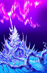 Castle Borealis - Palace of the Ice Wyrms by Blaze-TFD