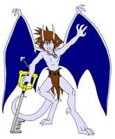Gargoyle Sora Battle Sketch by purplelemon