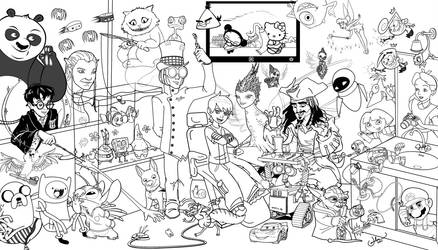 dentistry n' cartoons lineart by Infernauta