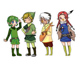 zelda characters designed by me by sho-hei