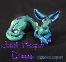 Jewel Keeper Dragon Sculpture by Ilenora