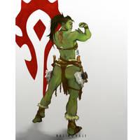 Orc female warcraft fan art by Halimunali by Halimunali
