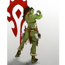 Orc female warcraft fan art by Halimunali by Halimunali