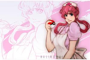 Nurse Joy Pokemon Fanart By Halimunali Wallpaper by Halimunali