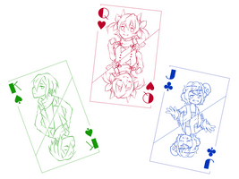 Cards: free to color by yuukiartda