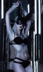Black fashion rabbit by lKainl