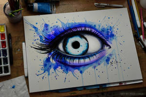 Her blue eyes (on sale) by PixieCold