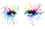 Rainbow eyes + Speedpainting Tutorial!!! by PixieCold