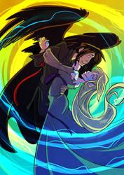 Artfight- Hunter and Gray by Animeshen