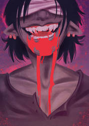 Vampire Teeth by Animeshen