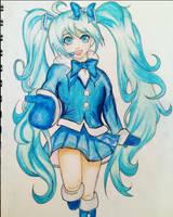 Old drawing - Hatsune Miku by burlace