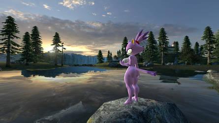 Blaze wants to go for a swim (GMOD Version) by HotArt01