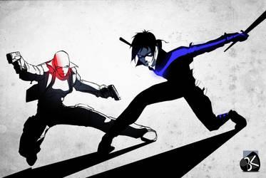 Nightwing redhood by TheBabman