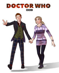 Commission: The Doctor and Jessie 2 by GreenLiquidBrain