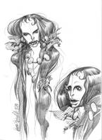 Mermaid sketch 1 by lauraspianelli