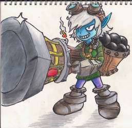 Tristana ready for action by Requiem7