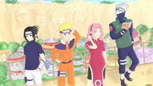 Naruto - Team 7 #Fanart by Izarikotsuki