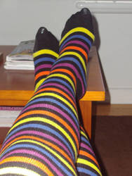 Striped Kneesocks 2 by businessmanrike