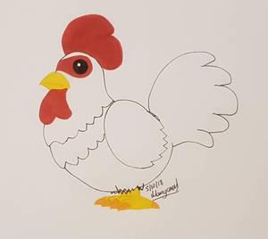 Inktober 2018 Day 5 Chicken by Mangamad