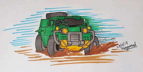 Inktober 2018 Day 23 Muddy by Mangamad