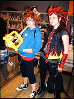 Sora + Axel Casual Cosplay by Kikiyaa