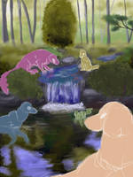TWWM - Forest Stream YEH (OPEN) by PantheraCorax