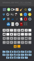 MINIMALISM MAC OS X ICONS by xenatt