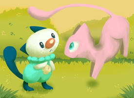 Mijumaru and Mew by cartoonboyplz