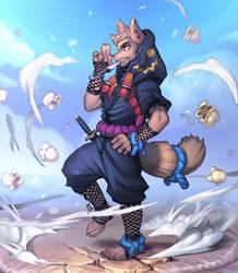 Popcorn Ninja by lost-tyrant