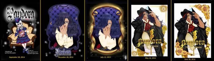Pandora Covers evolution by TheEternalBlackRose