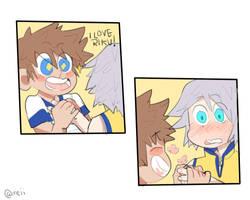 Sora and Riku Comic by meiiple