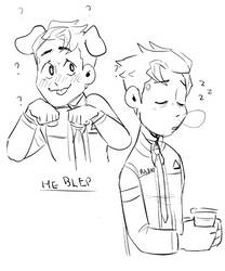 Connor Sketches by meiiple