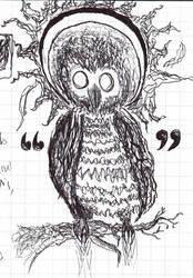owl godhead by scrow-ghost