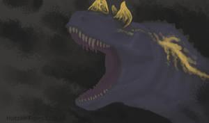 Ceratosaurus portrait rough sketch by XStreamChaosOfficial
