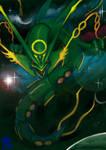 Mega Rayquaza by k-hots