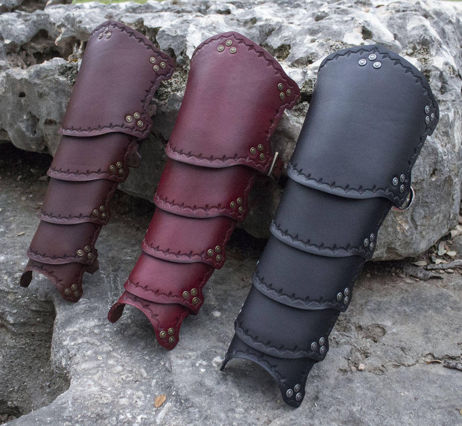 .: Plated Leather Greaves For Sale :. by ChaoseVIIn