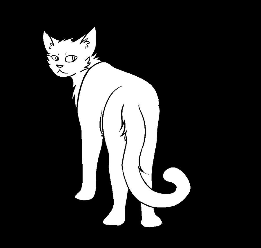 Fu Thunderclan Warrior Cat Lineart By Popfiish