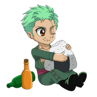 One Piece: Little Marimo by LilyandJasper