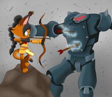 Art Trade: Azar vs SWATbot by LilyandJasper