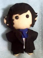 BBC Sherlock Holmes Chibi plushie by ChloeRockChick14
