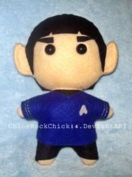 Spock - Chibi Plushie by ChloeRockChick14