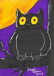 Halloween ATC Set: Owl by Rika24