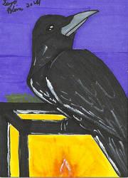Halloween ATC Set: Raven by Rika24