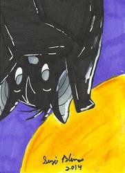 Halloween ATC Set: Bat by Rika24