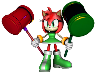 Chaos-Overcharged Amy Rose [SFM] by TheRaiBone12