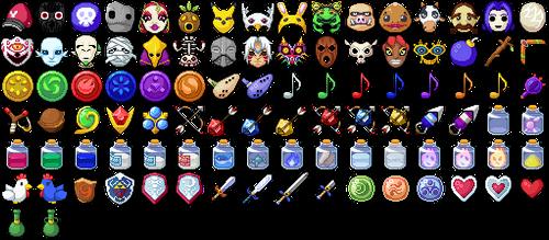 RMMV Icons - Legend of Zelda by Amysaurus121