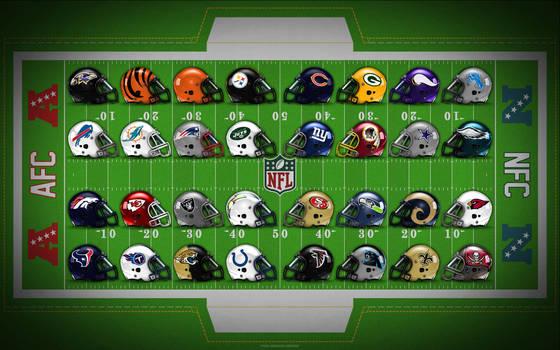 NFL Field of Helmets! by Superman8193