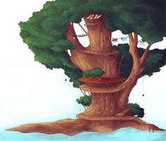 Treehouse by caughtinthehurricane