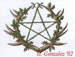 Pagan tattoo design by violetwinter