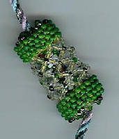Green Beaded Bead by Refiner